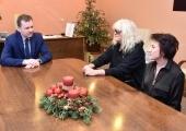 Przed konferencją prasową lider zespołu OMEGA spotkał się z prezydentem Krzysztofem Chojniakiem.