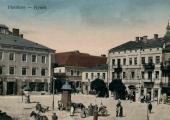 Pocztówka z dawnym Hotelem Litewskim.