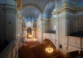 Wnętrze dawnego klasztoru oo. Pijarów.