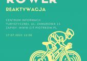"""Plakat zapraszający na grę miejską """"Kulturower Reaktywacja""""."""