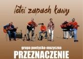 """Plakat zapraszający na koncert """"Letni zapach kawy""""."""