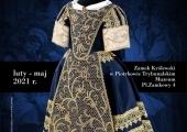 """Plakat zapraszający na wystawę """"Rekonstrukcje ubiorów dziecięcych od XVII do XIX wieku""""."""