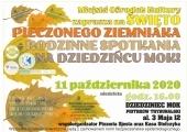 Plakat zapowiadający wydarzenie na dziedzińcu Miejskiego Ośrodka Kultury.