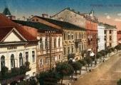 Pocztówka z dawną ulicą Kaliską.