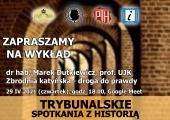 Plakat zapraszający na wykład dr hab. Marka Dutkiewicza.