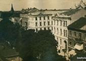 Fragment ulicy Kaliskiej z 1915 roku; źródło: dawnypiotrkow.pl