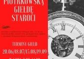 Plakat zapraszający na X Piotrkowską Giełdę Staroci.