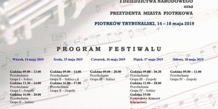 Ogólnopolski Festiwal Klarnetowy w Piotrkowie Trybunalskim